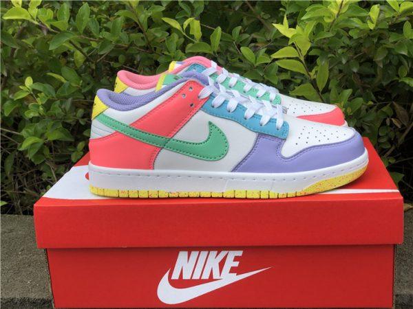 Womens Nike Dunk Low SE Easter Pastel Multi UK Sale DD1872-100-1