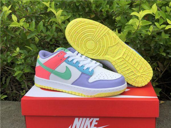 Womens Nike Dunk Low SE Easter Pastel Multi UK Sale DD1872-100