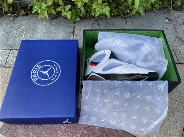 2021 Air Jordan 7 PSG White Sport Shoes Release Date CZ0789-105-1