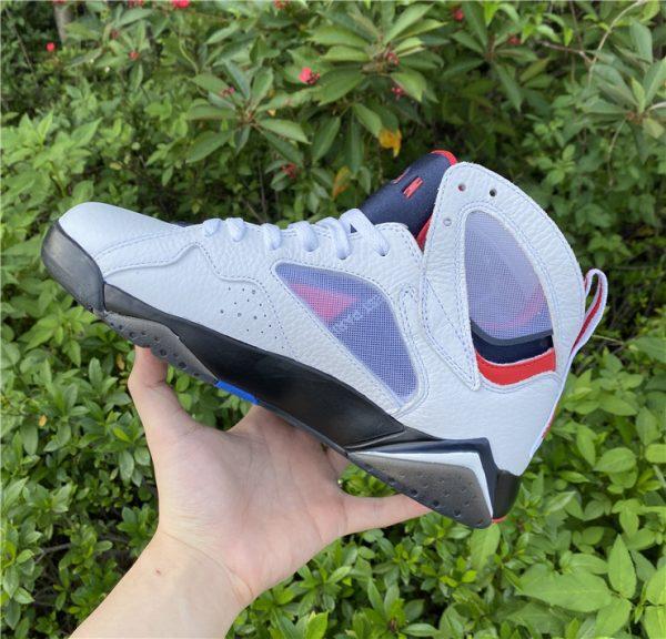 2021 Air Jordan 7 PSG White Sport Shoes Release Date CZ0789-105-4