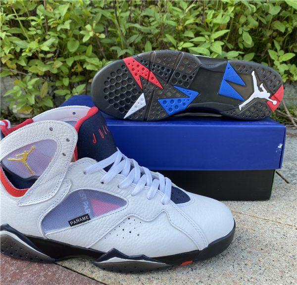 2021 Air Jordan 7 PSG White Sport Shoes Release Date CZ0789-105-7