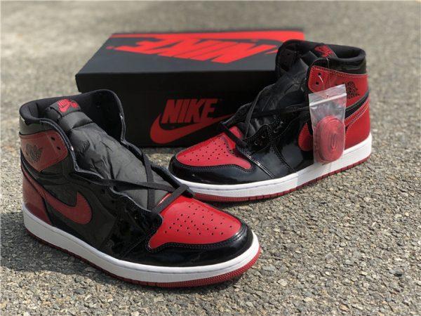 2021 Fashion Shoes Air Jordan 1 Retro High OG Bred Patent For Sale-1