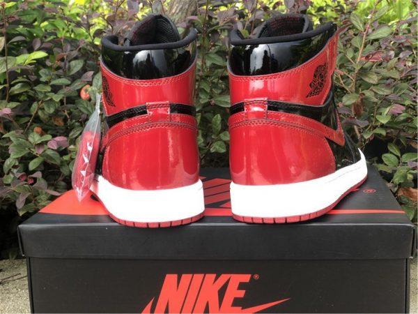 2021 Fashion Shoes Air Jordan 1 Retro High OG Bred Patent For Sale-5