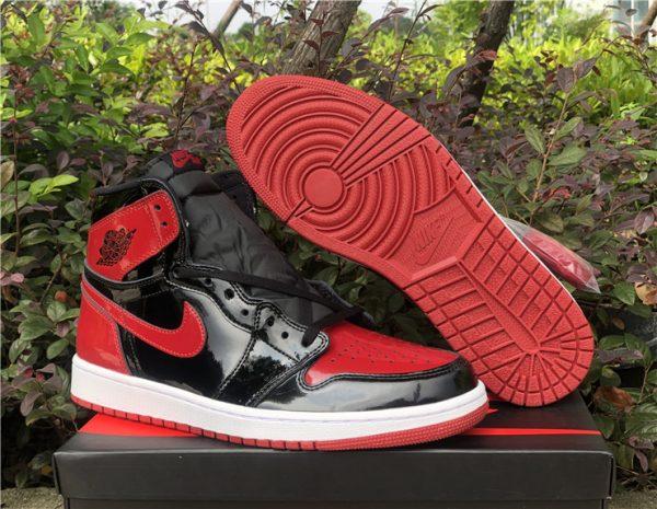 2021 Fashion Shoes Air Jordan 1 Retro High OG Bred Patent For Sale