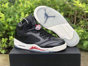 """Air Jordan 5 SP """"Black Muslin"""" Black White Red Online Sale"""