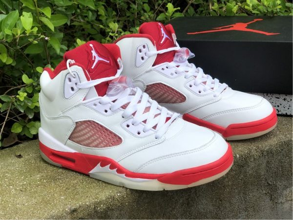 Big Kids Air Jordan 5 Pink Foam White Pink Foam-Gym Red 440892-106-6