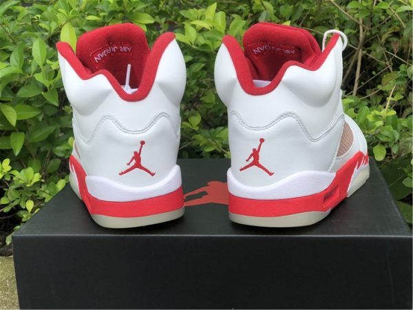 Big Kids Air Jordan 5 Pink Foam White Pink Foam-Gym Red 440892-106-4