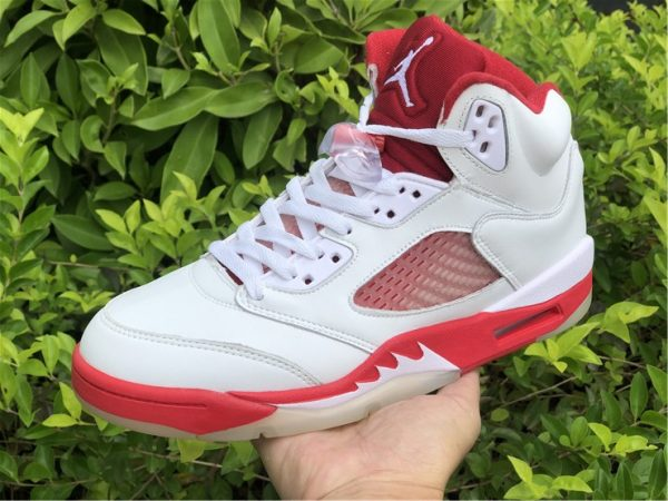 Big Kids Air Jordan 5 Pink Foam White Pink Foam-Gym Red 440892-106-3