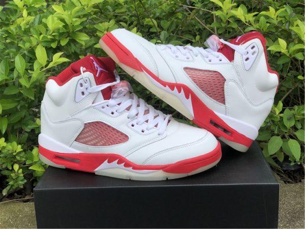 Big Kids Air Jordan 5 Pink Foam White Pink Foam-Gym Red 440892-106-2