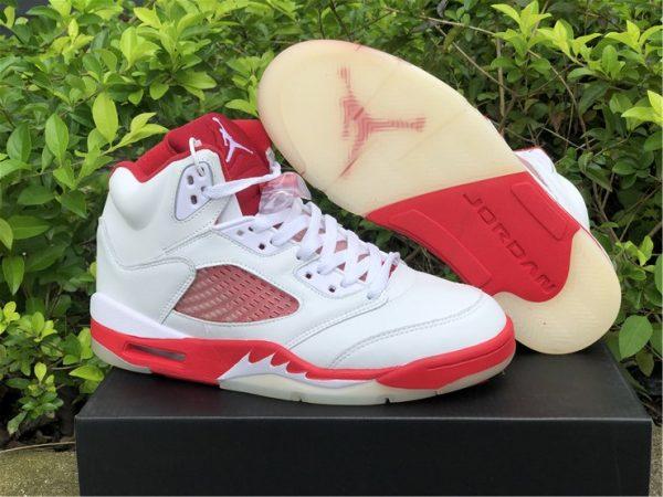 Big Kids Air Jordan 5 Pink Foam White Pink Foam-Gym Red 440892-106