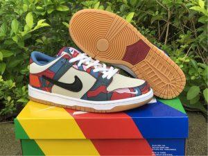 Cheap Parra x Nike SB Dunk Low Gym Red Royal Blue White DH7695-600