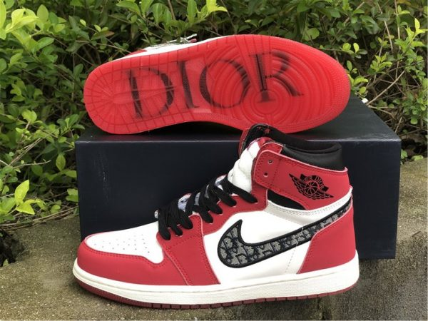 Dior x Air Jordan 1 High Chicago Sale For Men and Women-6