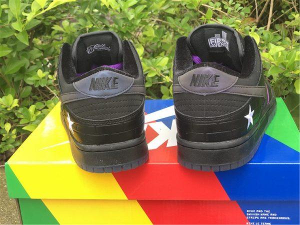 Familia x Nike SB Dunk Low First Avenue Black Purple UK Shoes DJ1159-001-5