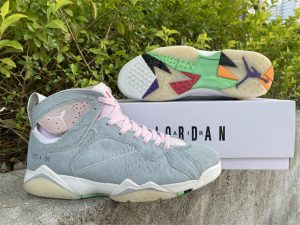 Men Shoes Air Jordan 7 Retro OG Hare 2.0 Gray UK CT8528-002