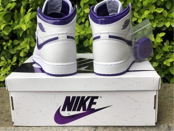 New Air Jordan 1 High OG Court Purple Heel