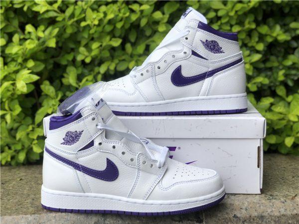 New Air Jordan 1 High OG Court Purple Online Store CD0461-151-2
