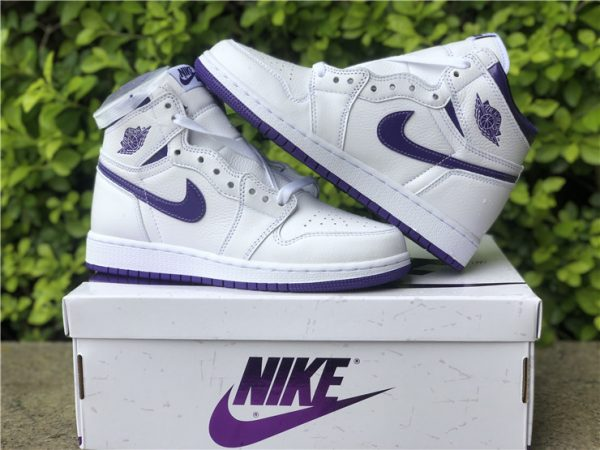 New Air Jordan 1 High OG Court Purple Online Store CD0461-151-3