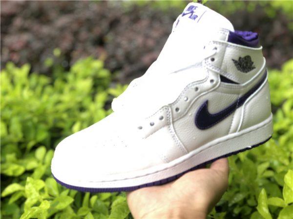 New Air Jordan 1 High OG Court Purple On Hand