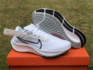 Nike Air Zoom Pegasus 38 White Black Running Shoes CW7356-100