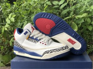 2021 Best Selling Air Jordan 3 Retro White Blue DH3434-112