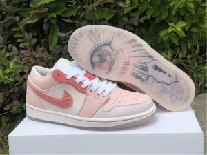 Air Jordan 1 Low SE Pink White Basketball Shoes For Sale