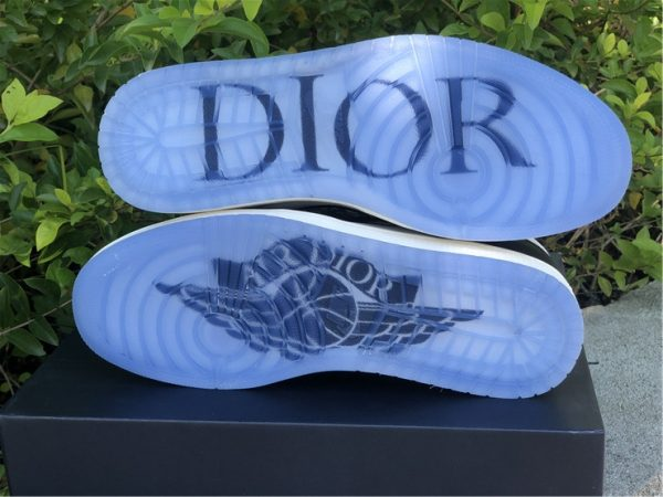 Dior Air Jordan 1 Black White For Sale CN8607-001-2