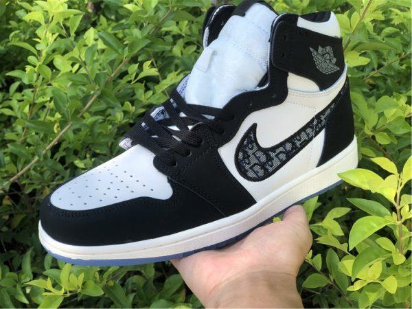 Dior Air Jordan 1 Black White For Sale CN8607-001-7