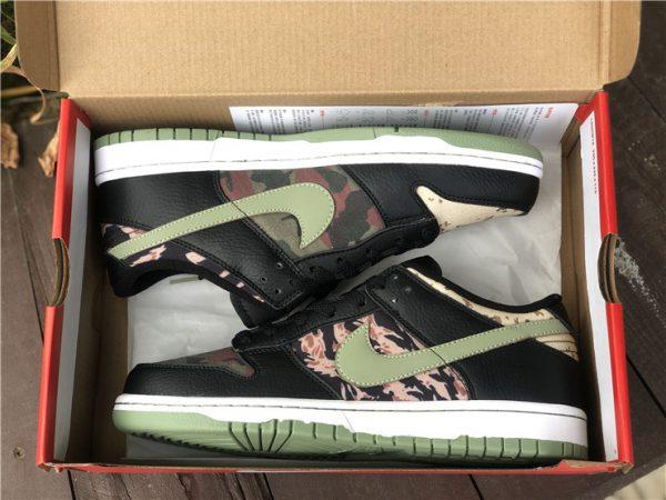 Nike Dunk Low Black Multi Camo In Box