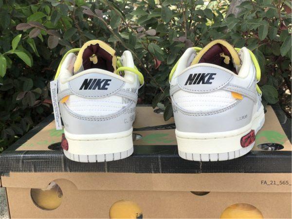 OFF-WHITE x Futura x Nike Dunk Low Grey White Yellow Shoes DM1602-106-4