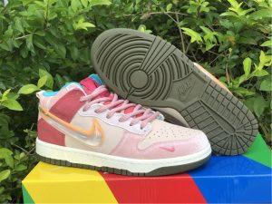 Social Status x Nike SB Dunk High Pro QS Pink UK DJ1173-600