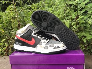 2021 Latest Nike SB Dunk Low Grey/Black-University Red CU1727-006
