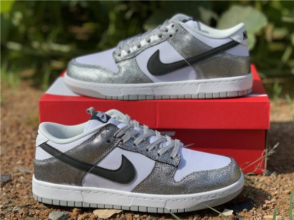 2021 Newest Nike Dunk Low Shimmer For Sale DO5882-001-2