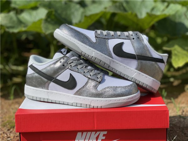 2021 Newest Nike Dunk Low Shimmer For Sale DO5882-001-4