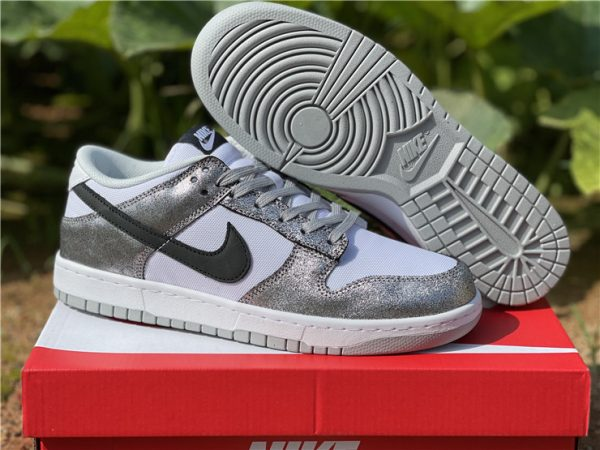 2021 Newest Nike Dunk Low Shimmer For Sale DO5882-001