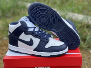 2022 New Nike Dunk High Midnight Navy Online Sale DD1399-104