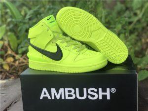 AMBUSH x Nike Dunk High Atomic Green UK For Cheap CU7544-300