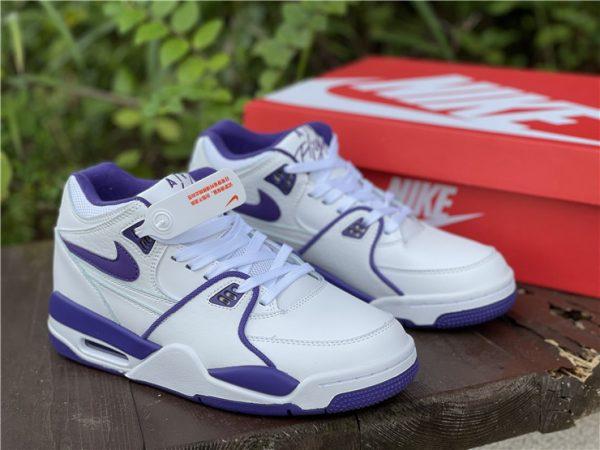 Men Nike Air Flight 89 Court Purple White Basketball Shoes CN0050-101-1
