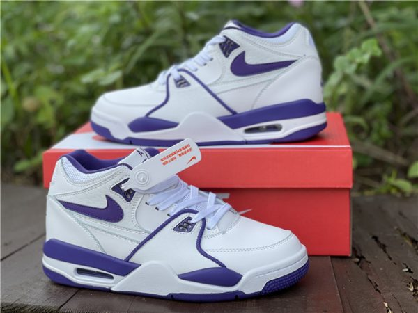 Men Nike Air Flight 89 Court Purple White Basketball Shoes CN0050-101-2