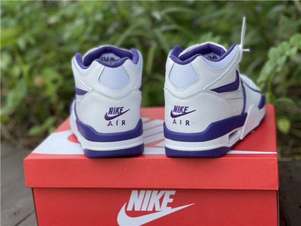 Men Nike Air Flight 89 Court Purple White Basketball Shoes CN0050-101-3
