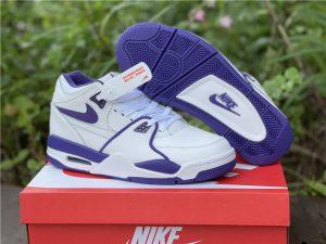 Men Nike Air Flight 89 Court Purple White Basketball Shoes CN0050-101