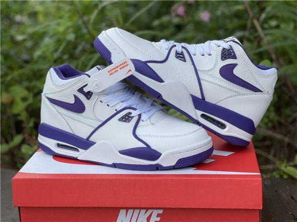Men Nike Air Flight 89 Court Purple White Basketball Shoes CN0050-101-4