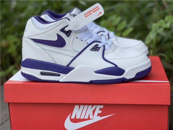 Men Nike Air Flight 89 Court Purple White Basketball Shoes CN0050-101-5