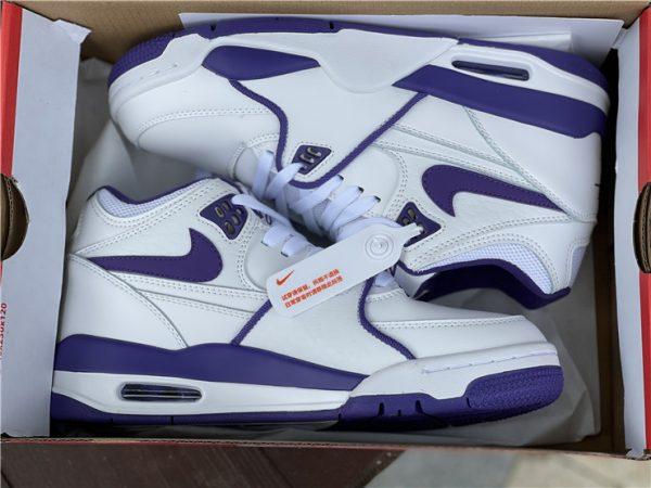 Men Nike Air Flight 89 Court Purple White In Box
