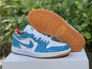 New Release Air Jordan 1 Low Light Teal Patent Leather DC6991-400