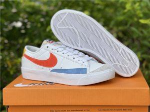 Nike Blazer Low 77 White Orange Lifestyle Shoes DC4769-105