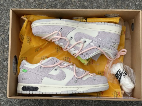 Nike Dunk Low Beige White Pink In Box