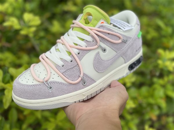 Nike Dunk Low Beige White Pink In Hand