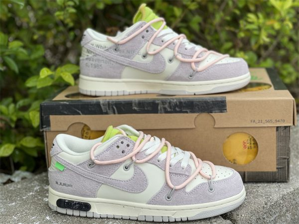 Nike Dunk Low Beige White Pink UK For Sale DJ0950-100-1