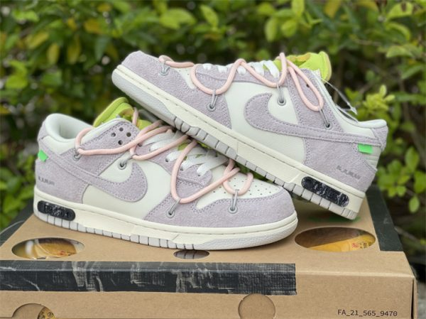 Nike Dunk Low Beige White Pink UK For Sale DJ0950-100-4