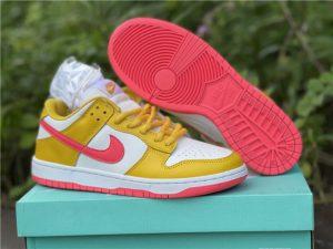 Nike Dunk Low Samba White/Yellow-Pink Discount Sale BQ6817-802